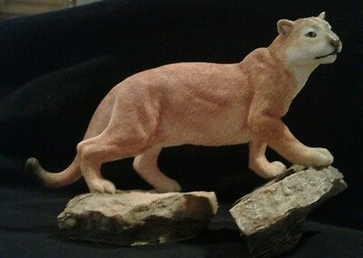 country artists Florida Panther  lion cougar figurine statue collectible