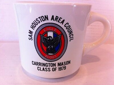 Boy Scouts coffee mug, Eagle Scout 1979 Sam Houston Area Council cup Houston Tx