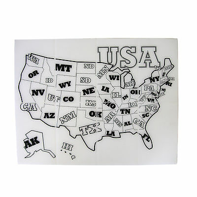 Siliskin Child's USA State Map SILICONE PLACEMAT, Roll or Fold 484004