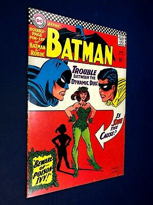 Batman #181 (1966 DC Comics) 1st appearance Poison Ivy with pin-up Silver Age