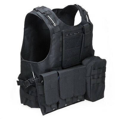 Military Swat Field Battle Airsoft Molle Combat Assault Plate Carrier Vest QW