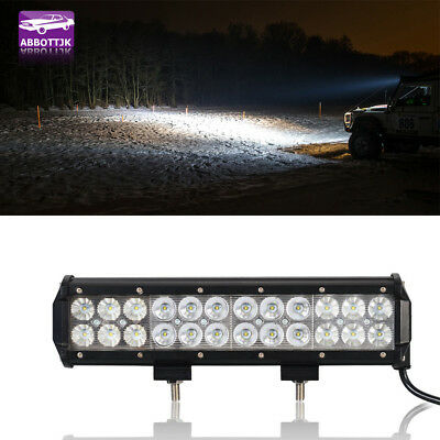 1PC 12Inch CREE LED Work Light Bar Spot Flood Offroad 4WD Truck Boat SUV Ford