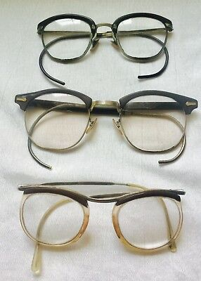 VINTAGE Lot of 3 RETRO SPECTACLES AS-IS-AS-SHOWN