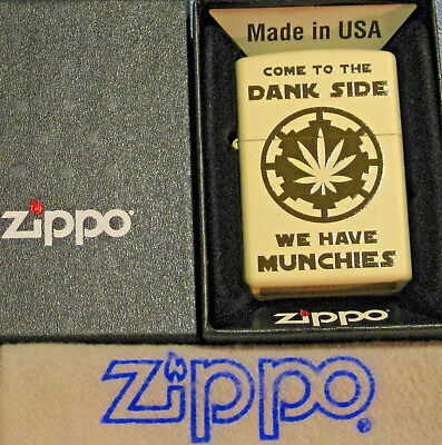 ZIPPO  COME TO THE DANK SIDE Lighter WE HAVE MUNCHIES  New  MINT In BOX