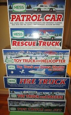 Hess Toy Trucks New Lot Of 7-Great Collection Gift Hess Oil Gas Amerada