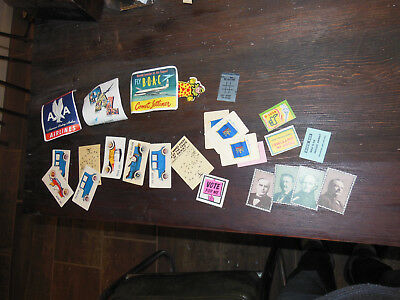 LARGE VTG Cracker Jack charm prize lot TONS!  50s 60s all paper See pics, Awesom