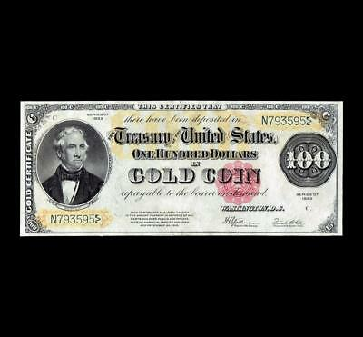 Amazing 1922 $100 Gold Certificate Strong Extra Fine+ Condition