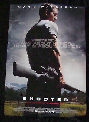 SHOOTER movie poster MARK WAHLBERG Original DS One sheet 2006