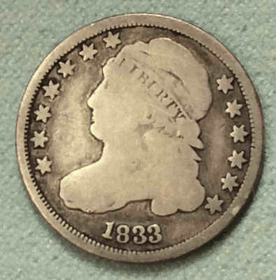 1833 Bust Dime Nice FREE SHIPPING