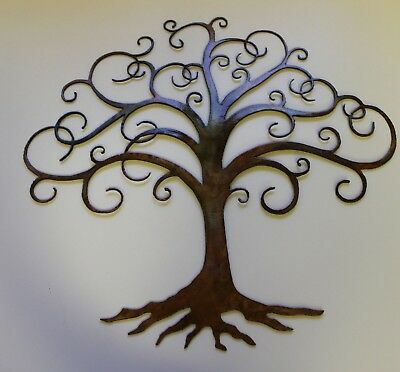 SWIRLED TREE OF Life Metal Wall Art Decor by HGMW 14\
