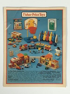 Vintage 1973 FISHER-PRICE TOYS Booklet Catalog - 4 Pages