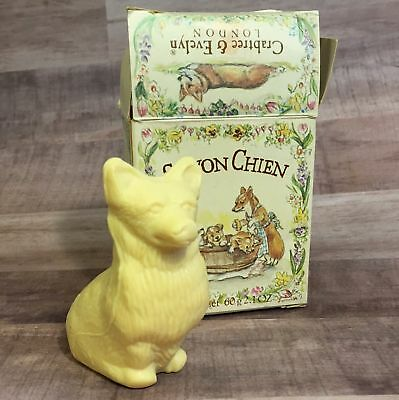 Crabtree Evelyn CORGI Soap in Box Tasha Tudor Artwork NEW Old Stock 1990s