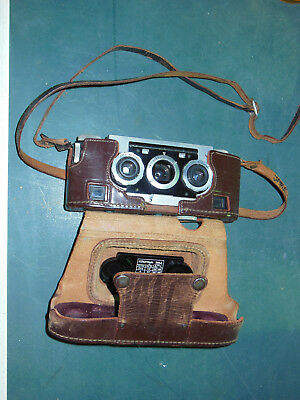 David White Stereo Realist camera in leather case Milwaukee WI See pics, nice us