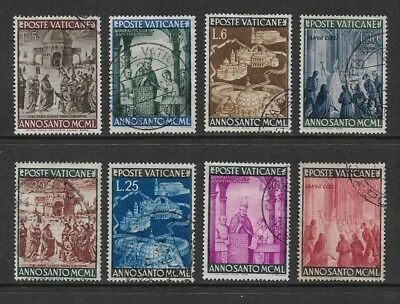 VATICAN CITY 1949 Holy Year, set of 8, used