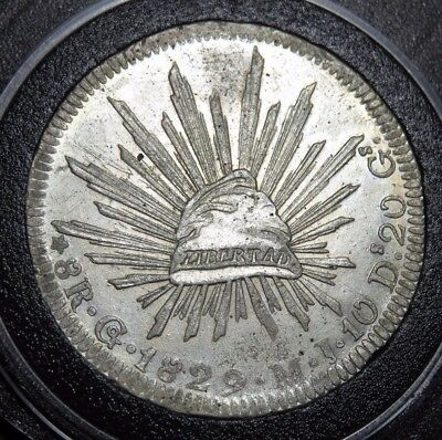 Mexico 1829 Go MJ 8 Reales