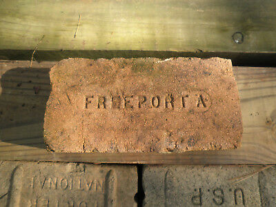 Vintage Antique FREEPORT A Street Brick Road Paver