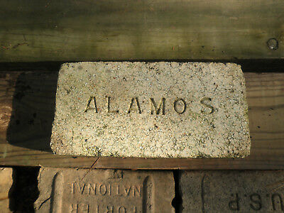 Vintage Antique ALAMO S Brick Street Road Paver