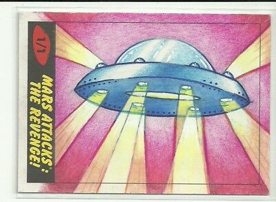 2017 Topps Mars Attacks The Revenge ! UFO Sketch Card by Emma Frank