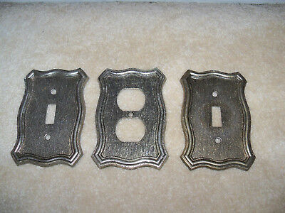 Vintage 3 Light Switch Plate Cover Toggle & Outlet 1968 American Tack & Howe Co