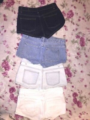 American Apparel Basic Front Button-up Jean SHORTS (Size 27) LOT OF 4