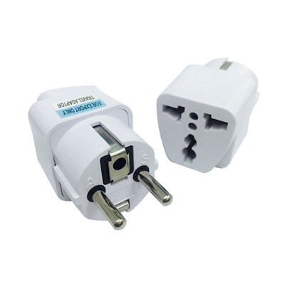 UK US AU to EU AC Power Plug universal Travel Charger Adapter Outlet Converter