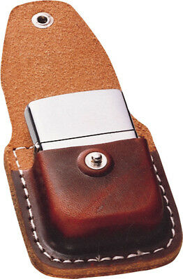 Zippo Lighter Pouch Brown leather, attaches to belt with clip <i><b>Lighter not