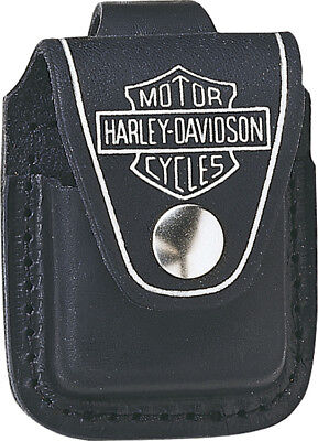 Zippo Harley lighter pouch Black leather with loop  These world famous lighters