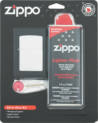 Zippo ORMD All In One Kit Includes Street Chrome finish lighter, 4 fluid ounce l