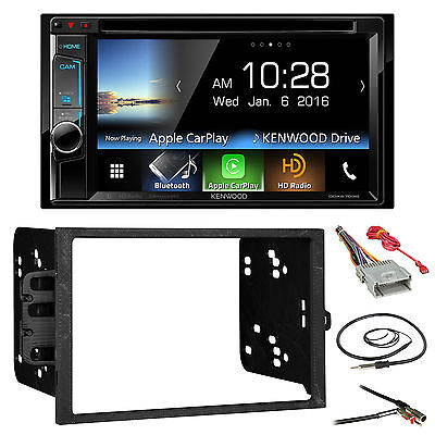 Kenwood Bluetooth 2Din DVD HD Radio,GM 90-12 Install Kit,Harness and Antenna Set