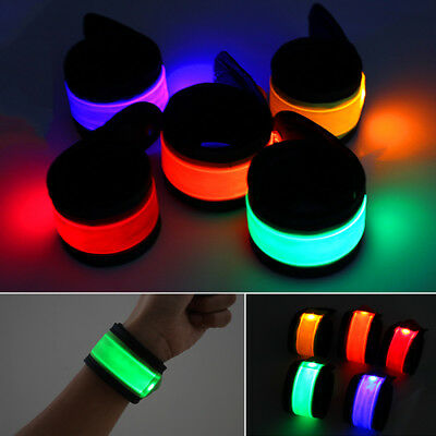 Night Lighting Belt Bike LED Safety Sport Reflective Strap Wrap Arm Band Cycling