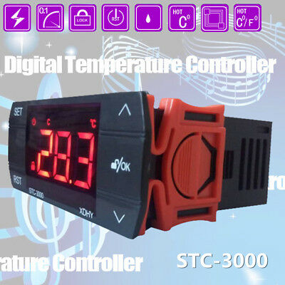 110-240V Digital Touch Temperature Controller Thermostat Control Relay STC-3000