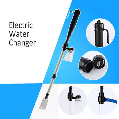 HOME Battery-Gravel Vacuum Cleaner Aquarium Fish Tank Cleaning Syphon Water-Pump