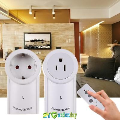2 Pack  Wireless Remote Control Light Switch Home Mains Plug Power Socket Outlet