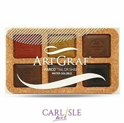 Artgraf Water Soluble Graphite Disc Set Of 6 Earth Colours