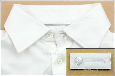 White Cotton Collar Extender Business Shirt Blouse Cuff Extension Neck Size Tie