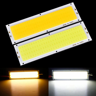 12V-24V 1000LM 10W COB LED Strip Light High Power Lamp Chip Warm/Cool White