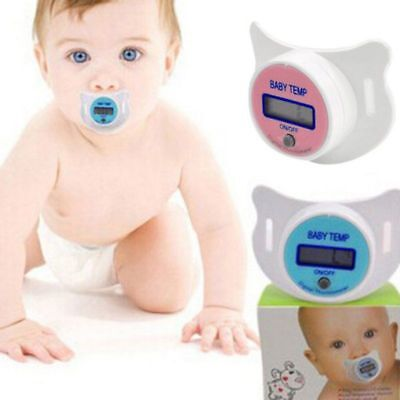 Safety Practical Baby Mouth Pacifier Thermometer LCD Digital Nipple Temperature