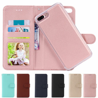 Magnetic Detachable Case Leather Card Wallet Cover For iPhone 5S 6S 7 8 Plus B