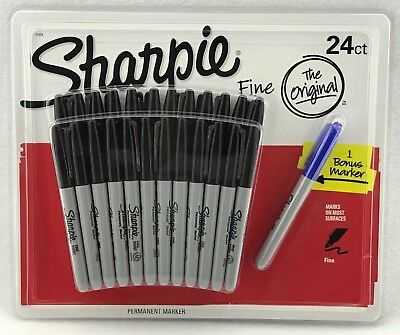 24 Bulk Pack Sharpie Pen Fine Tip Black Permanent Marker *Free AU Shipping!!*