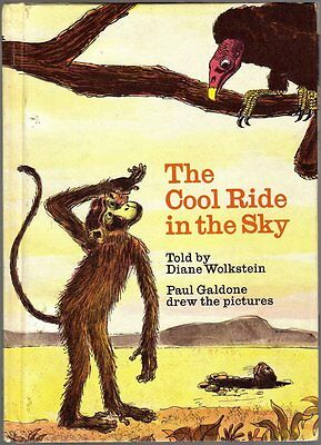 Vintage Children's Book ~ THE COOL RIDE IN THE SKY ~ Paul Galdone 1973