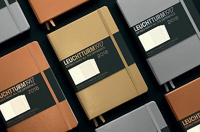 Leuchtturm1917 A5 Weekly Planner with Notebook Metallic Special Ed 2018