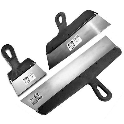 Drywall Taping, Filling Knife, Knives, Scraper, Plastering Spatula, Set - 3 Pcs