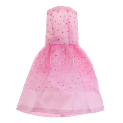 Spotted Dolls Dress Clothes For Barbie Doll Gown Skirt Sundress Tulle Outfit