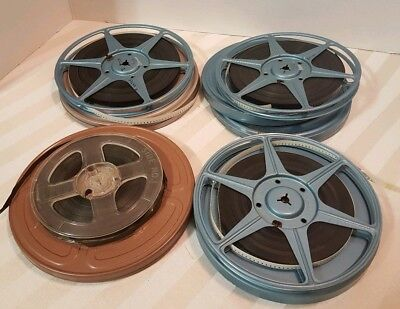 Vintage Film Reels w/2 Compco Cans, 1 Holiday Can & 1 Other Can Lot of 3
