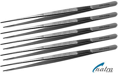 5x DeBakey Dissecting Forceps Tweezer straight 24 cm Surgery Surgical tissue