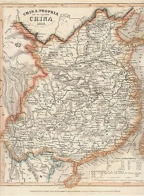 Map Of China Meyer's Zeitungs-Atlas 1849