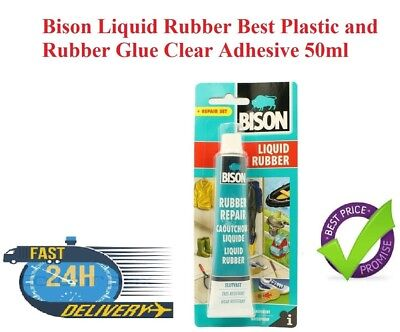 Bison Liquid Rubber Best Plastic and Rubber Glue Clear Adhesive 50ml