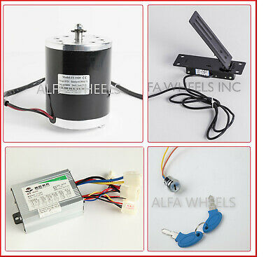 800W 36V electric Go Kart motor kit w control box key lock & Foot Pedal Throttle