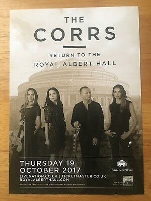 THE CORRS - 1 x RETURN TO THE ROYAL ALBERT HALL CONCERT FLYER (SIZE A5) 19.10.17