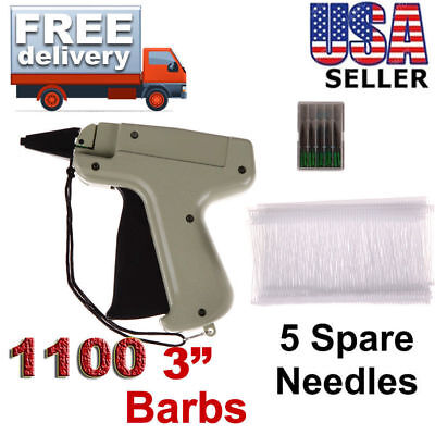 Clothes Garment Price Label Tagging Tag Gun Machine 1000 Barbs & 5 Steel Needles